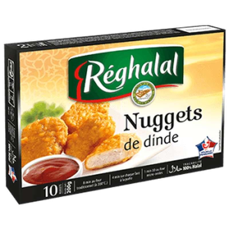 Nuggets de dinde Halal, Reghalal (x 10, 200 g)