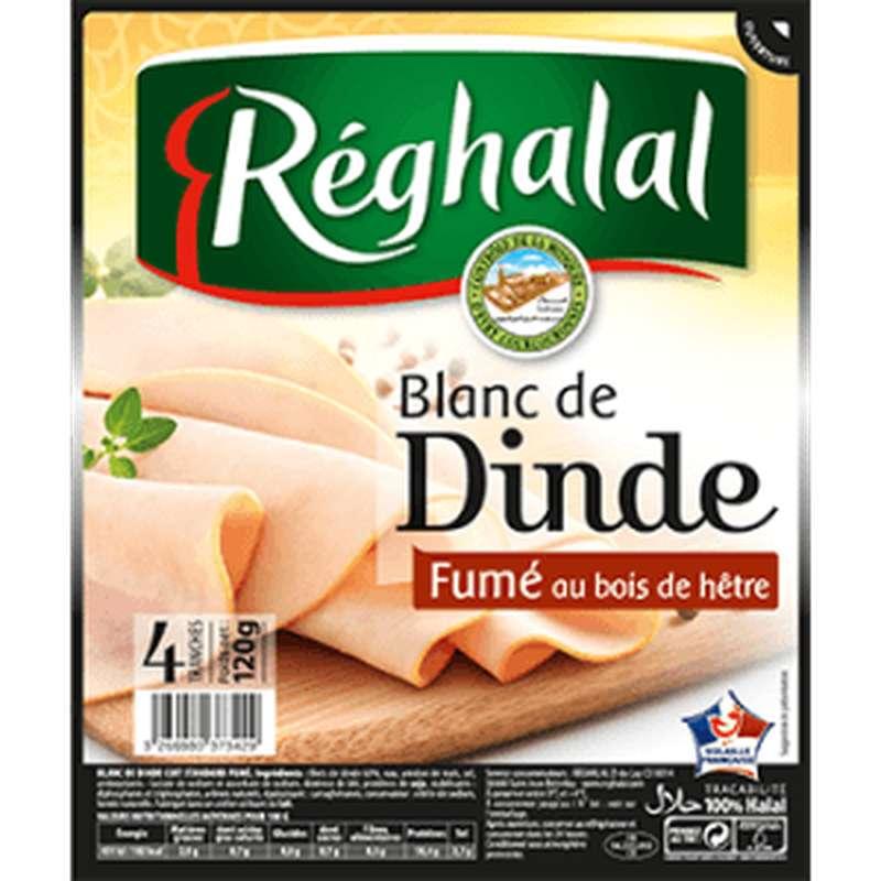 Blanc de dinde fumé Halal, Reghalal (4 tranches, 120 g)