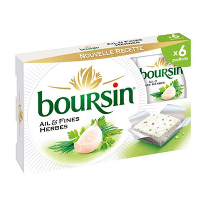 Boursin Ail et Fines Herbes (x 6, 96 g)