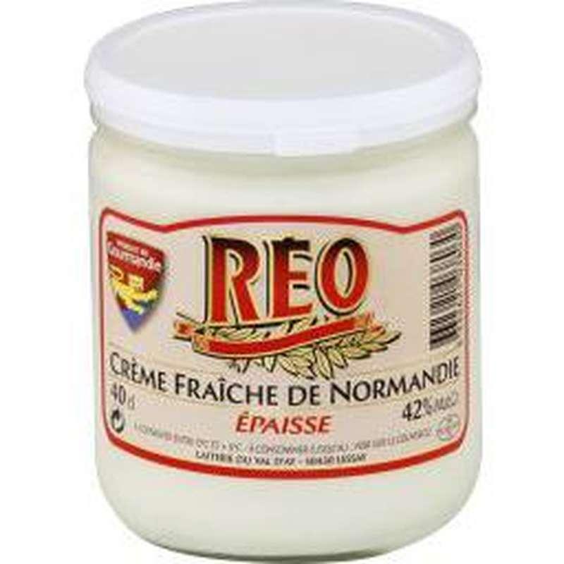 Crème fraîche épaisse de Normandie 42% de MG, Réo (40 cl)