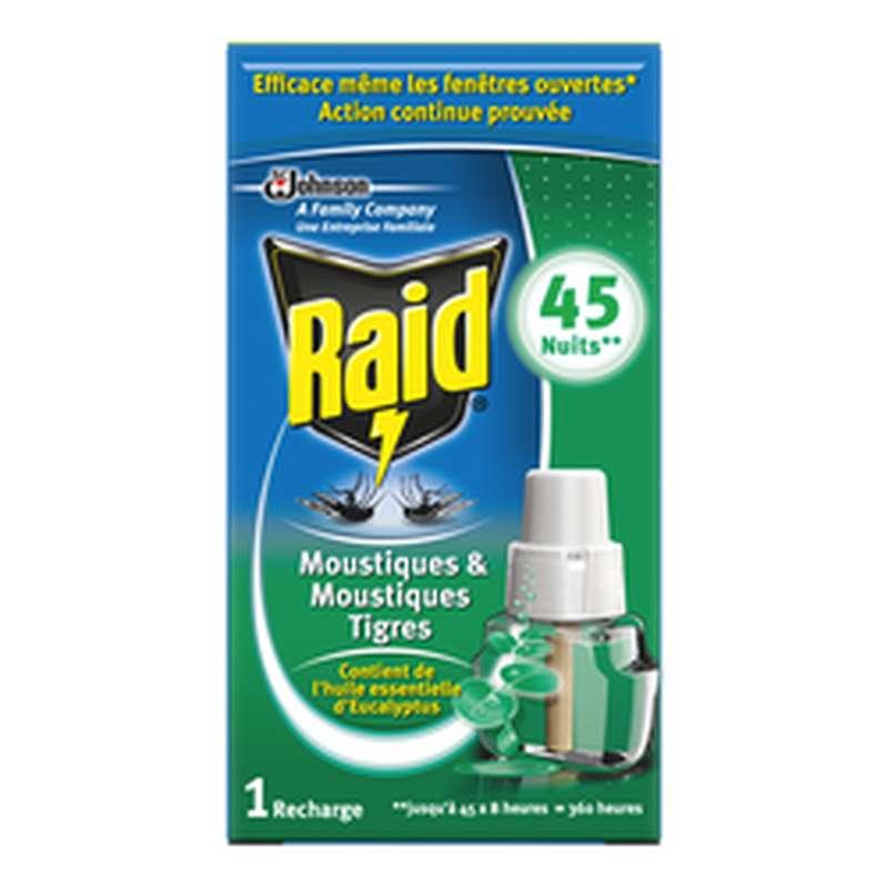 Recharge liquide pour diffuseur anti-moustique parfum eucalyptus, Raid (45 nuits)