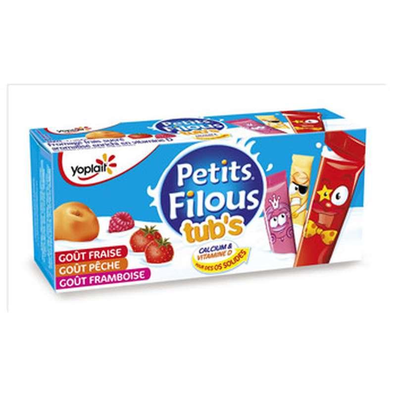 Petits Filous tub's fraise, pêche, framboise, Yoplait (12 x 40 g)