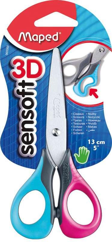 Paire de ciseaux Sensoft 3D, Maped (lames de 13,5 cm)