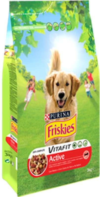 Croquettes pour chien VITAFIT active à la viande, Friskies (4 kg)