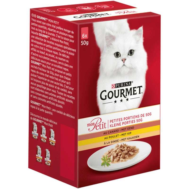 Gourmet mon petit à la volaille chat adulte, Purina LOT DE 2 + 1 OFFERT (18 x 50 g)
