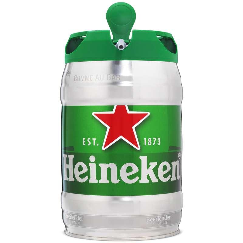 Mini-fût de bière Heineken livré frais et prêt à servir (5 L)