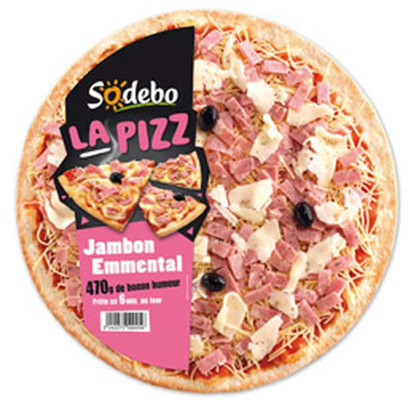 "Pizza ""La Pizz"" jambon emmental, Sodebo (470 g)"