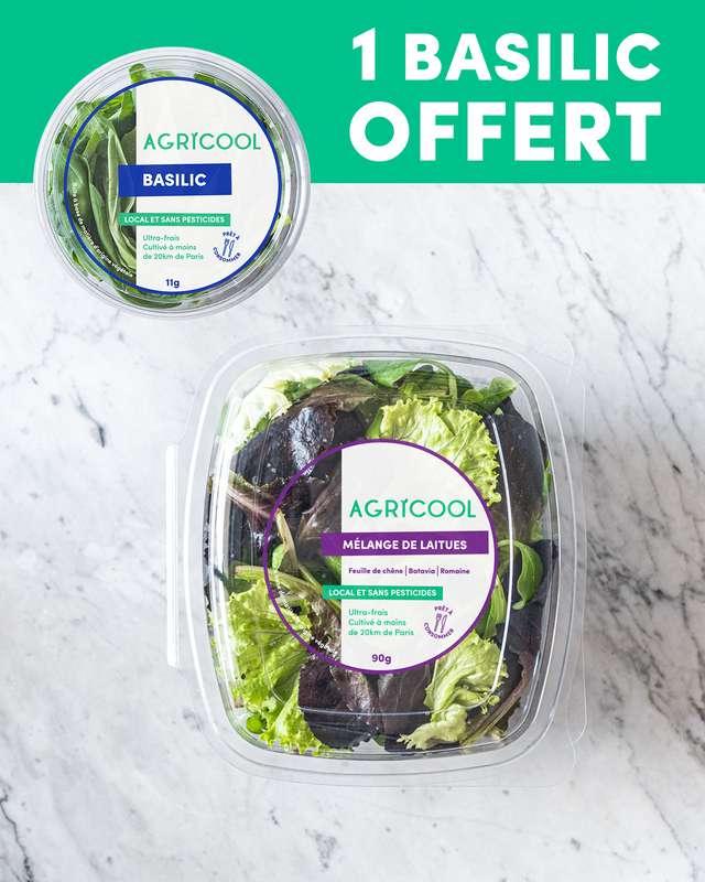 1 salade Agricool (90 g) achetée = 1 BASILIC OFFERT !