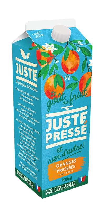 Jus 100% Oranges pressées sans pulpe, Juste Pressé (90 cl)