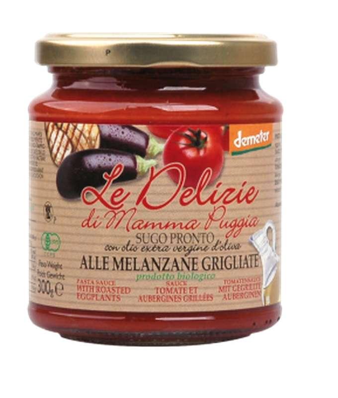 Sauce tomate et aubergines grillées BIO, Le Delizie di Mamma  (300 g)