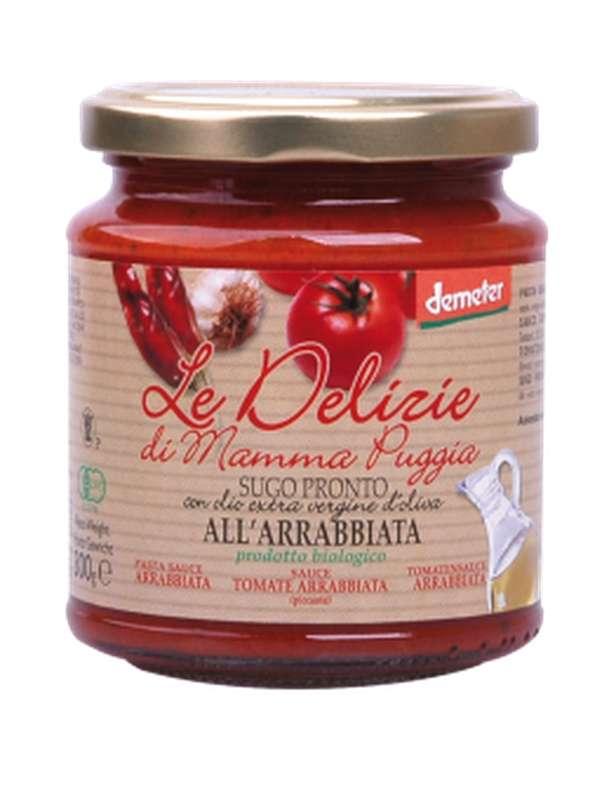 Sauce tomate Arrabbiata BIO, Le Delizie di Mamma  (300 g)