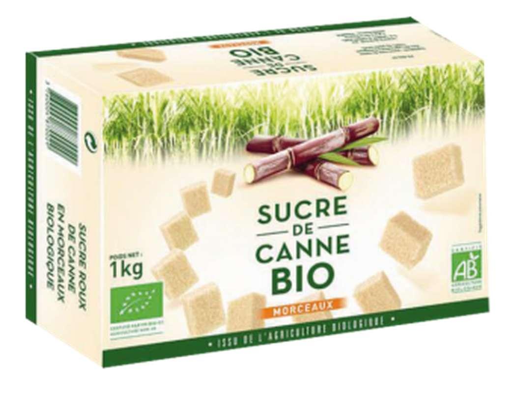 Sucre roux de canne en morceaux BIO , L&H (1000 g)