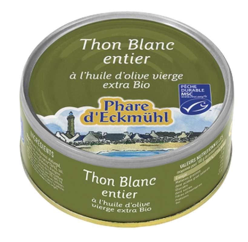 Thon blanc Germon à l'huile d'olive BIO, en boîte 1/5, Phare d'Eckmuhl (160 g)