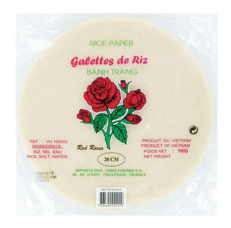 Galette de riz, Red Roses - 28 cm (1 kg)