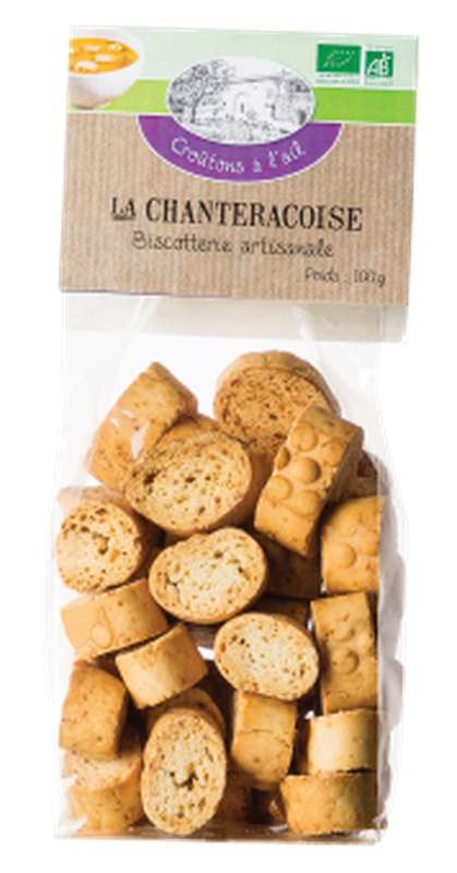 Croûtons à l'ail BIO, La Chanteracoise (100 g)