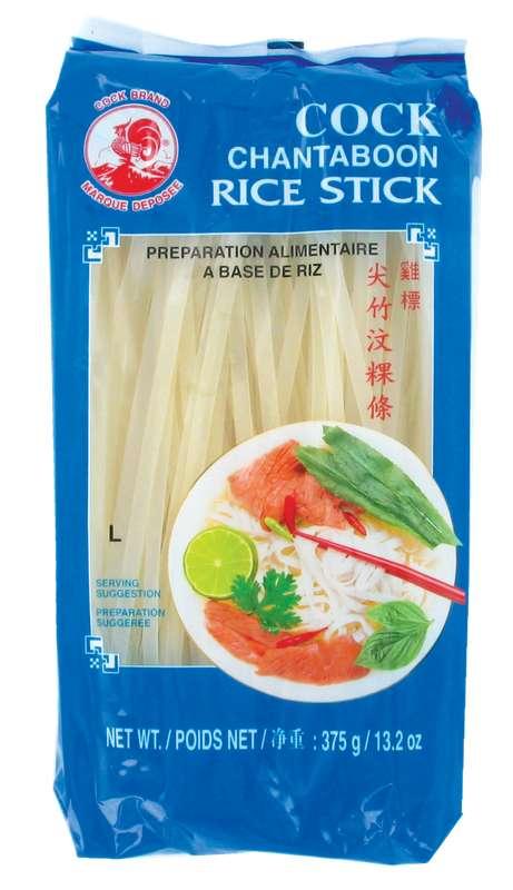 Pâte de riz large - 5 mm - (pho) Cock (375 g)