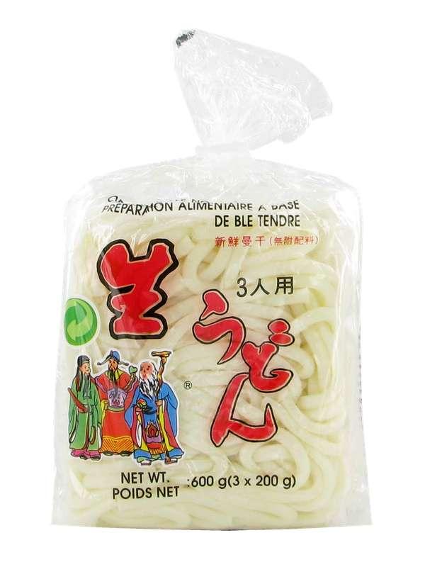 Udon frais, Trois Bonheurs (3 x 200 g)