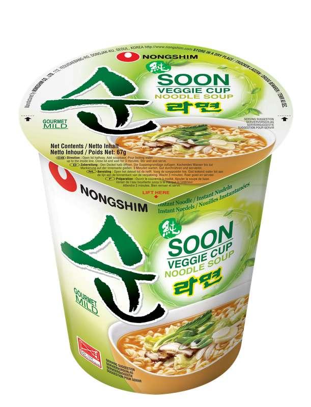 Nouille saveur légumes, Nongshim (67 g)