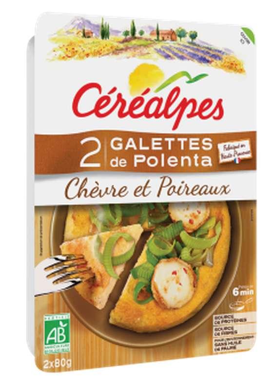 Galettes de polenta chèvre et poireaux BIO, Céréalpes (x 2, 160 g)