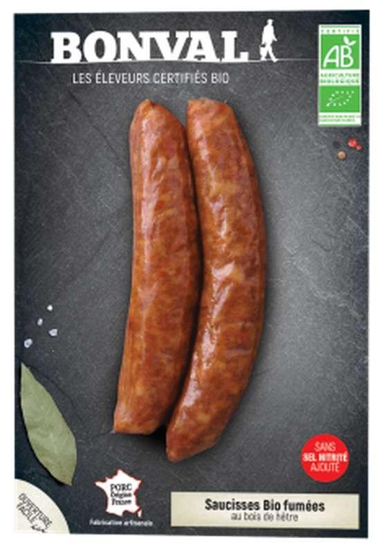 Saucisses fumées BIO, Bonval (x 2, 200 g)