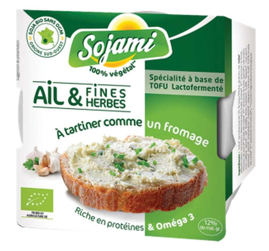 Sojami à tartiner ail et fines herbes BIO, Le Sojami (125 g)