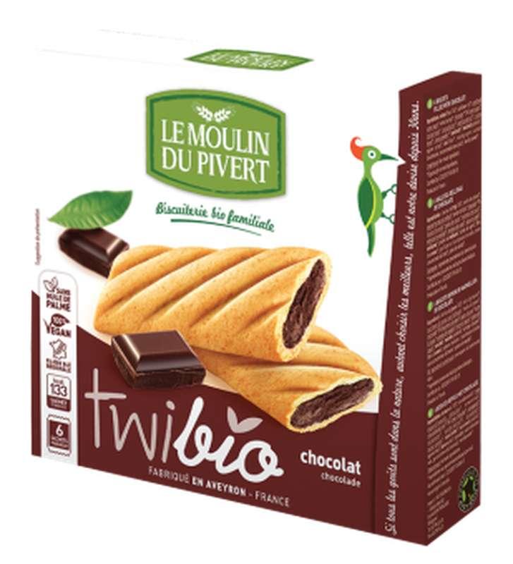 Twibio fourré chocolat BIO, Le Moulin du Pivert (150 g)