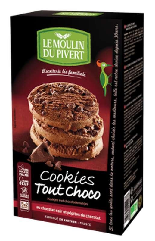 Cookies tout choco BIO, Le Moulin du Pivert (175 g)
