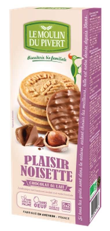 Plaisir noisette chocolat au lait BIO, Le Moulin du Pivert (130 g)