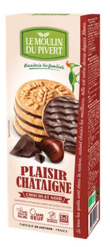 Plaisir châtaigne chocolat noir BIO, Le Moulin du Pivert (130 g)