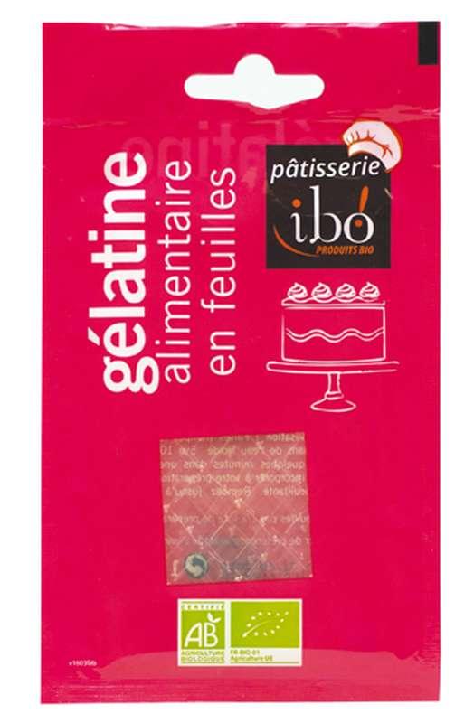 Gélatine alimentaire en feuilles BIO, Ibo (x 5 à 7 feuilles, 11 g)