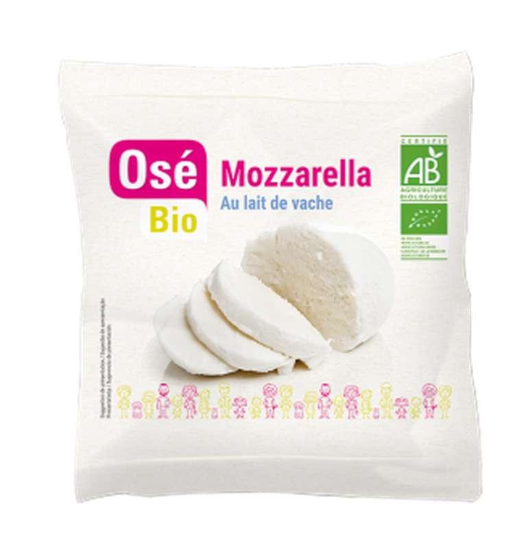 Mozzarella boule au lait pasteurisé BIO, 19% MG, Osé Bio (100 g)