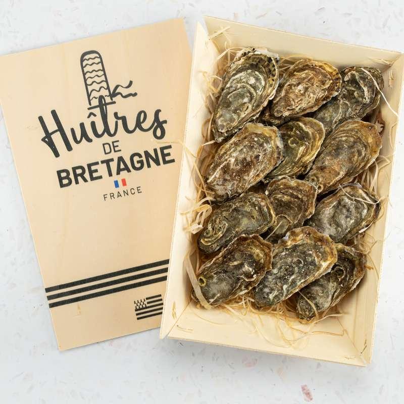 """12 Huîtres creuses """"naturelles de Bretagne"""" N°3, Kys Marine"""