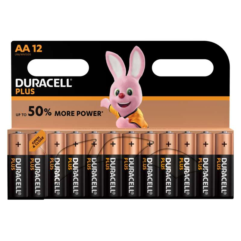 Piles AA/LR06 Plus Power, Duracell (x 12)