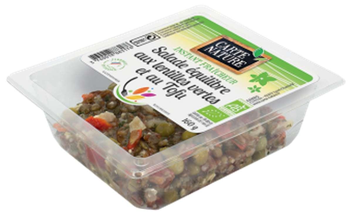 Salade équilibre aux lentilles vertes et au tofu BIO, Carte Nature (160 g)