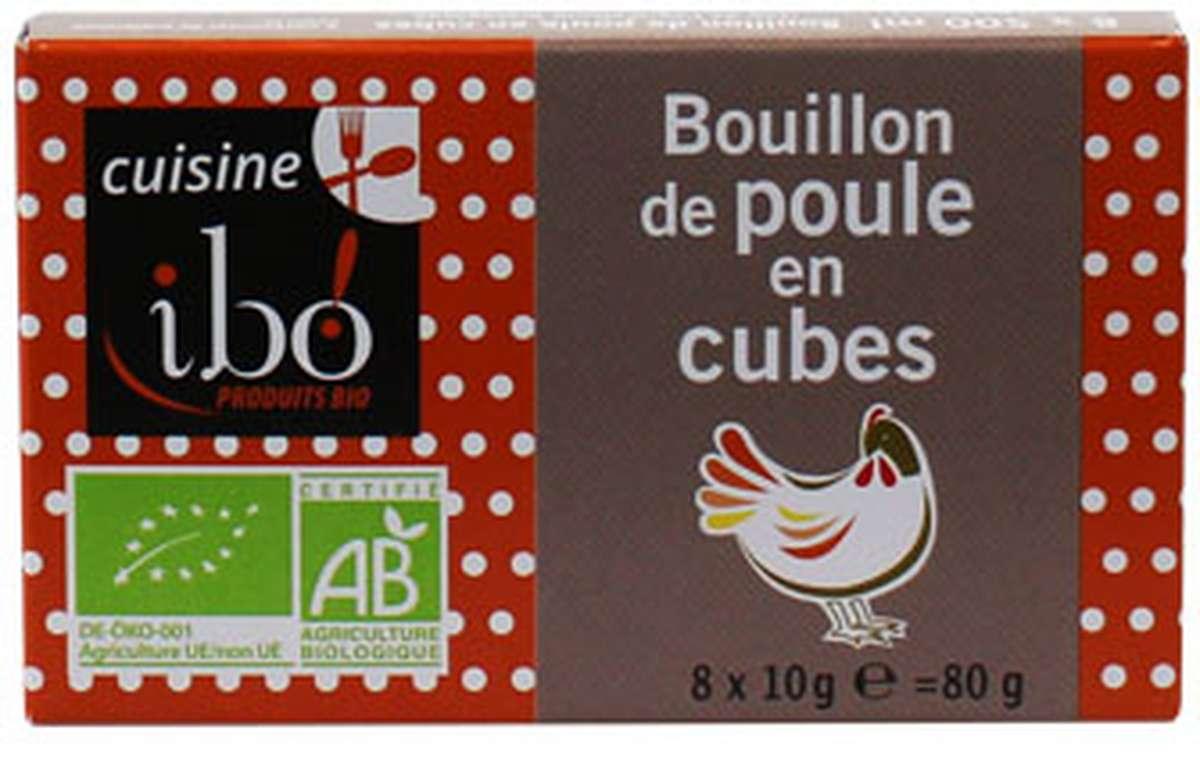 Bouillon de poule en cubes BIO, Ibo (x 8, 80 g)