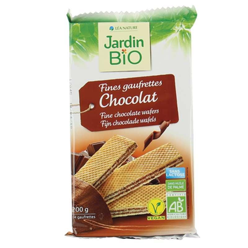 Fines gaufrettes au chocolat BIO, Jardin Bio (200 g)