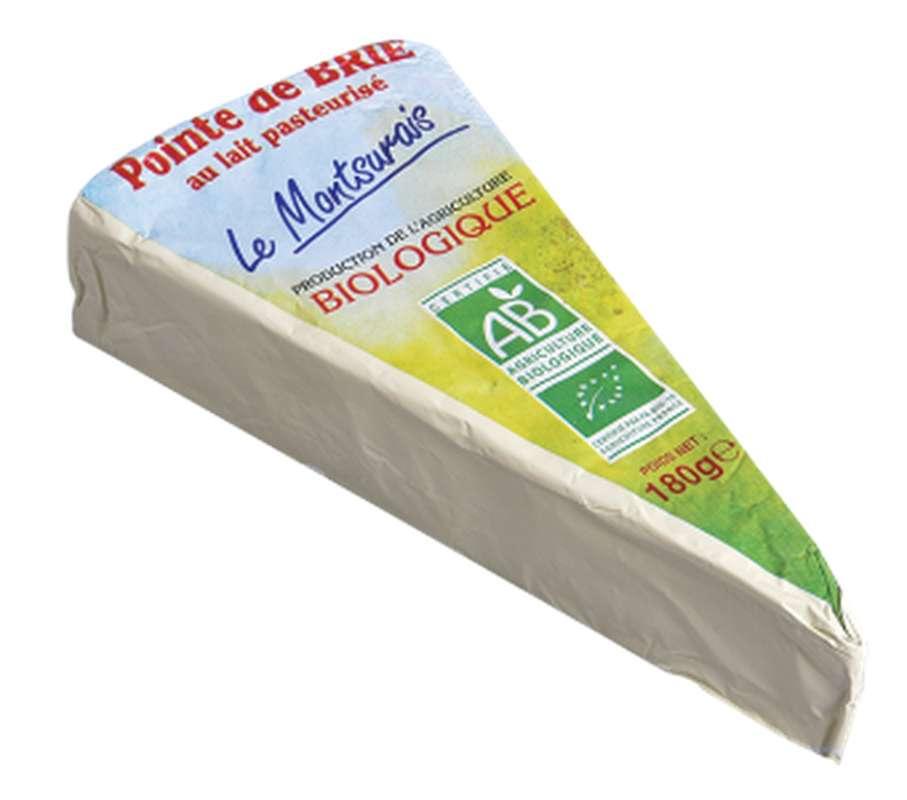 Pointe de brie pasteurisé BIO, 20 % MG/PF, Le Montsûrais (180 g)