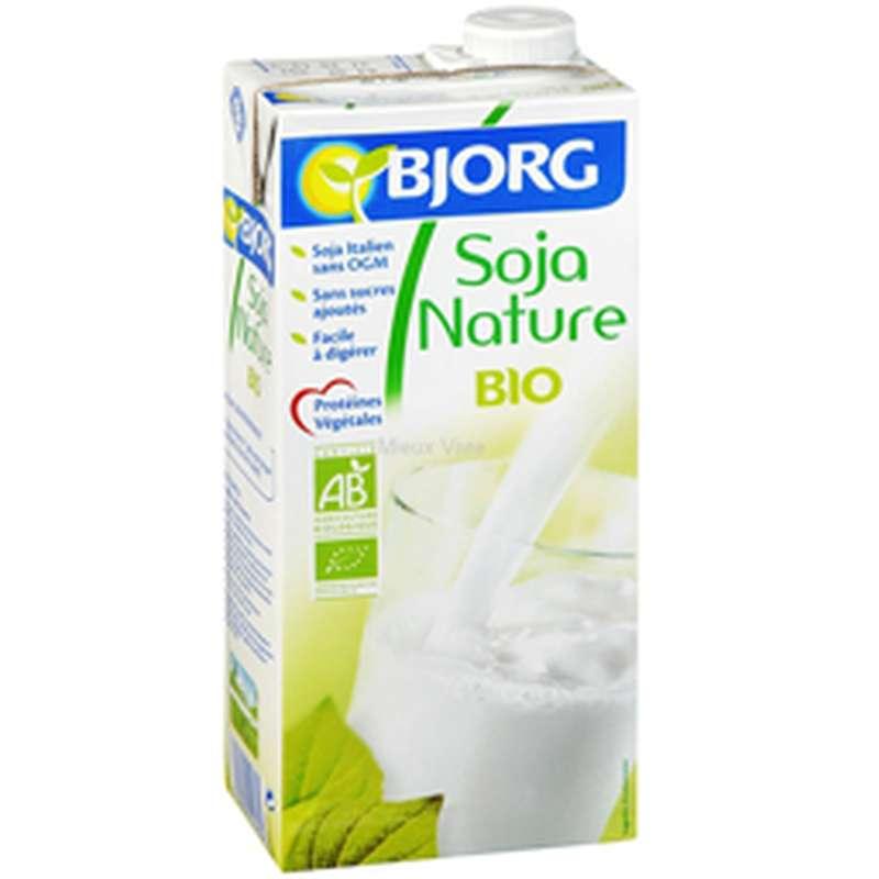 Pack de boisson nature de soja BIO, Bjorg (6 x1 L)