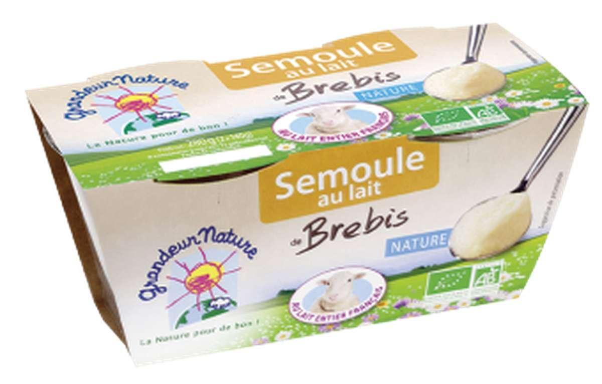 Semoule au lait de brebis nature BIO, Grandeur Nature (x 2, 280 g)