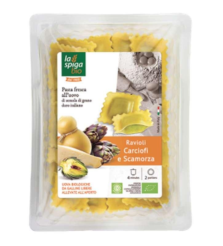 Ravioli aux artichauts et scamorza BIO, La Spiga Bio (250 g)