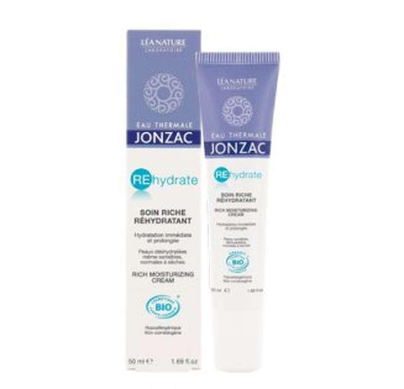 Soin riche onctueux REhydrate BIO, Eau thermale Jonzac (50 ml)