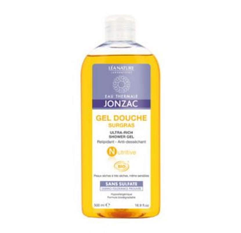 Gel douche surgras NUTRITIVE BIO, Eau thermale de Jonzac (500 ml)