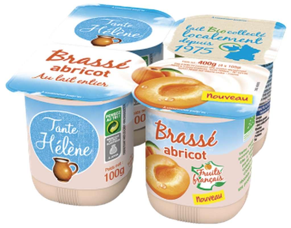 Yaourt brassé à l'abricot BIO, Tante Hélène (x 4, 400 g)