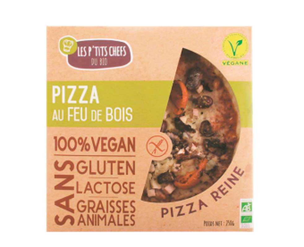 Pizza reine sans gluten BIO, Les P'tits Chefs du Bio (250 g)