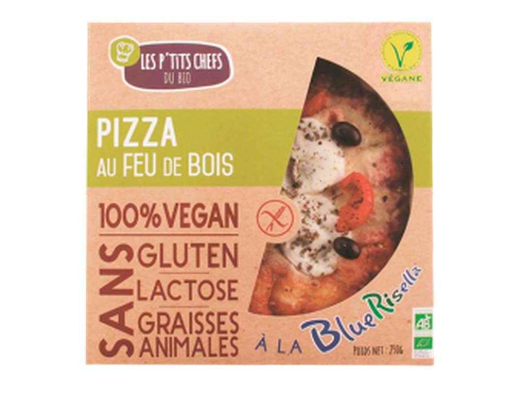 Pizza à la bluerisella sans gluten BIO, Les P'tits Chefs du Bio (250 g)