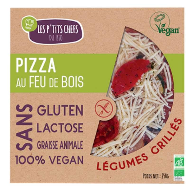 Pizza aux légumes grillés sans gluten BIO, Les P'tits Chefs du Bio (250 g)