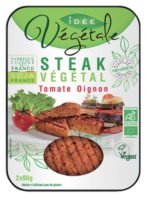 Steak végétal tomate oignon BIO, Idée Végétale (x 2, 180 g)