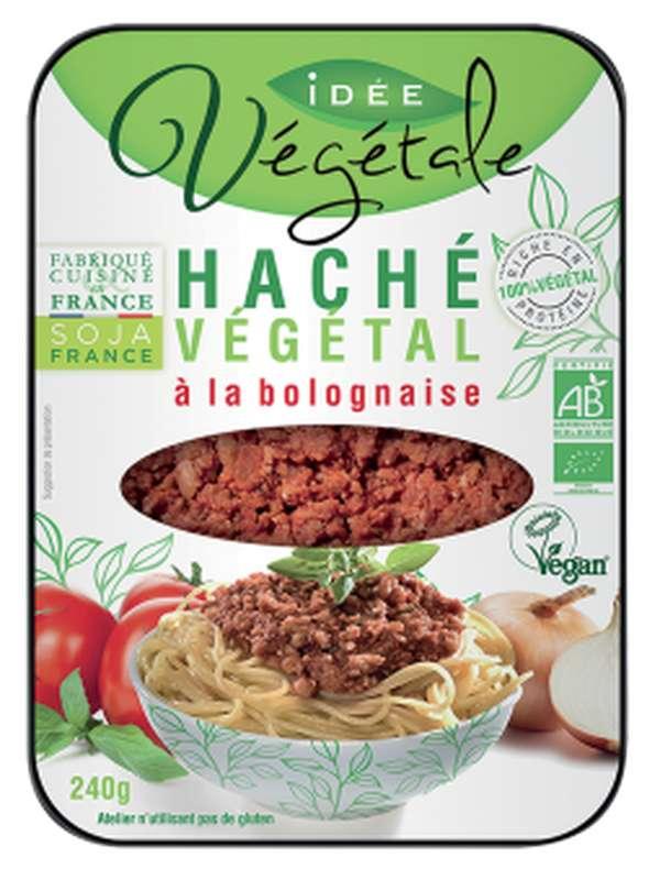 Haché végétal à la bolognaise BIO, Idée Végétale (240 g)