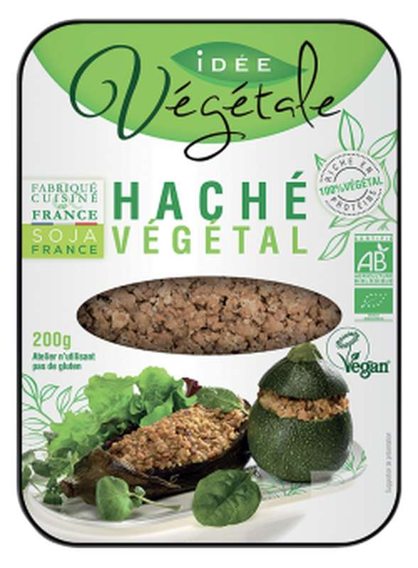Haché végétal nature BIO, Idée Végétale (200 g)
