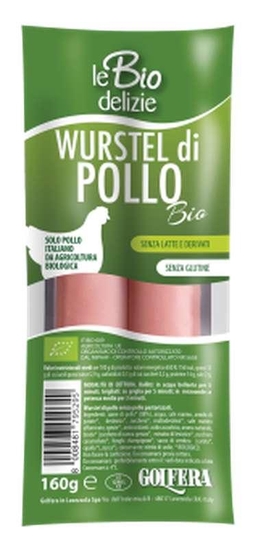 Saucisses de poulet BIO, Le Biodelizie di Gol (160 g)